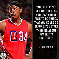This is Paul Pierce's 18th year in the NBA. (15 - 16)