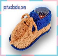 Zapatitos de ganchillo, para bebés hechos a mano, 60% Lana 40% Acrílico Dralón.Hipoalergénico. Otoño-Invierno.
