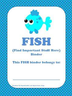 FREEBIE: the Teacher in ME: FISH Binder