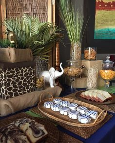 Safari Themed Baby Shower Dessert Table   www.latoyanicolecreations.com