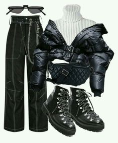 Best Edgy Outfits Part 7 Kpop Fashion Outfits, Stage Outfits, Edgy Outfits, Retro Outfits, Cute Casual Outfits, Look Fashion, Korean Fashion, Womens Fashion, Looks Hip Hop