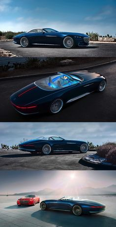 The 2017 Vision Mercedes-Maybach 6 Cabriolet is the droptop version of the Vision Mercedes-Maybach 6 Coupé presented at Pebble Beach in 2016 (Credit: Mercedes-Maybach)