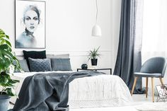 Beautiful art prints illustrated by Norwegian artist and designer Linda Skaret, available in several sizes. Living Room Interior, Scandinavian Style, Modern Bedroom, Interior Inspiration, Art Prints, Beautiful Ladies, Blue, Furniture, Artist