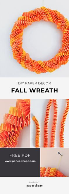 Easy diy fall wreath from paper (simple instructions)