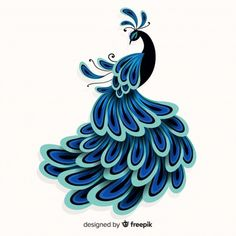 Peacock Vectors, Photos and PSD files Peacock Painting, Peacock Art, Peacock Design, Fabric Painting, Peacock Blue, Peacock Vector, Peacock Images, Feather Illustration, Easy Pencil Drawings