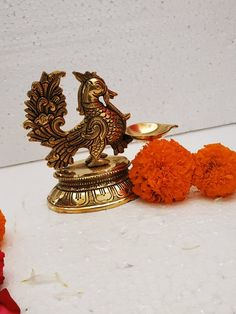 Brass Diyas, Spiritual Decor, Unique House Design, Brass Statues, Pooja Rooms, Indian Home Decor, Oil Lamps, Room Decor, Pure Products