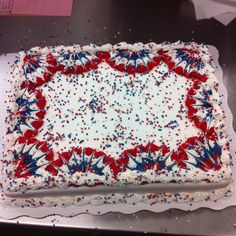 Great for fourth of July or memorial day Fourth Of July Cakes, 4th Of July Party, Fourth Of July Food, 4th Of July Celebration, July 4th, Blue Cakes, Patriotic Desserts, Patriotic Crafts, Independence Day Wallpaper
