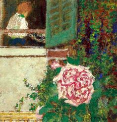 young woman at the window / edouard vuillard