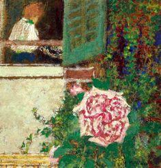 young woman at the window / edouard vuillard