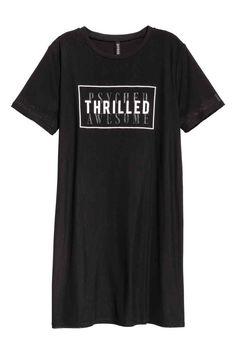Платье-футболка - Черный - Женщины  2aad862733a57