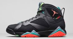 Date: Mar. 7  Shoe: Air Jordan 7 Retro  Colorway: Black/Infrared 23-Blue Graphite-Retro  Style No: 716227-425  Price: $160.00