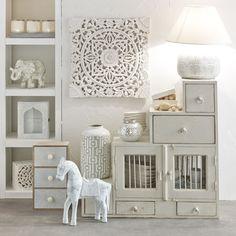 Indian silver wardrobe namaste maisons du monde - Decoration interieur maison du monde ...