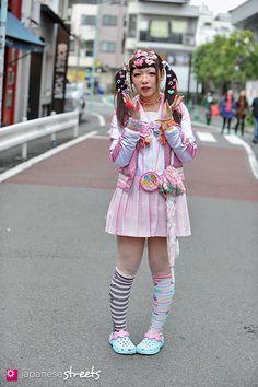 Decora, Japanese street fashion in Harajuku, Tokyo - That's a lot of hair barrettes!