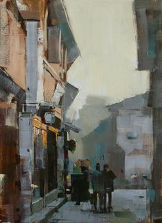 "qiang-huang, a daily painter: ""Wuzhen Street 2 (Day 4)"""