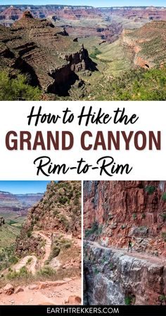 How to hike the Grand Canyon Rim-to-Rim, photos from the trail, how to do it as a day hike, and more. #grandcanyon #rim-to-rim #hiking #adventure