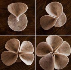 New Ideas for baby accessories diy homemade hair bows Cloth Flowers, Burlap Flowers, Felt Flowers, Diy Flowers, Fabric Flowers, Paper Flowers, Felt Flower Headbands, Felt Headband, Rose Flowers