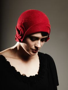 Red Cloche by behidadolicmillinery on Etsy