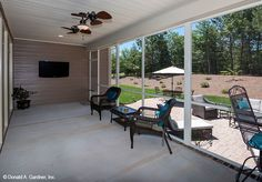 Take your pick of sun or shade with this rear porch and patio! The Travis home plan #1350.