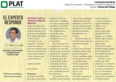 Clínica San Felipe: Consejos nutritivos para escolares en el diario El Comercio de Perú (01/03/15