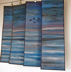 Blue Shore: Love this idea for hanging panels!