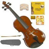 GRACE GV20 44 Size Solid Wood Hand Made Violin with Hard CaseBowRosin2 Sets Strings2 BridgesPitch Pipe * Continue to the product at the image link.Note:It is affiliate link to Amazon.