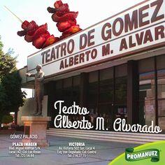 Ubicado en Gómez Palacio este teatro es uno de los símbolos más representativos de esta ciudad; conócelo y disfruta de sus espectáculos acompañados de la rica botana que #Promanuez tiene para ti. ;)