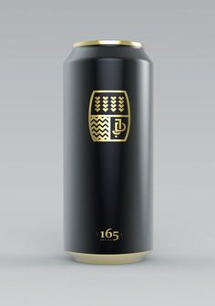 Details we like / packaging Design / beer Can / Black Matt/ Gold finish / Sleek / at Lemanoosh