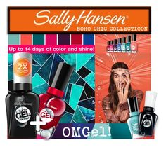 """""""No Light Gel: Nail It in 2 Steps with Sally Hansen® Miracle Gel™: Contest Entry"""" by sisilem ❤ liked on Polyvore featuring Belleza y Sally Hansen"""