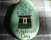 Hand Painted Rock - St. Patrick's Day