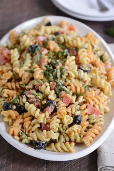 Simple to prepare, this tricolor pasta salad is the best ever! The lightly creamy dressing, with a hint of pesto, is perfectly flavorful and…