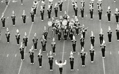 Oregon marching band in Autzen Stadium 1979. From the 1980 Oregana (University of Oregon yearbook). www.CampusAttic.com