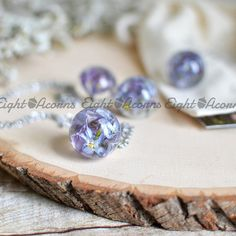 Lilac necklace real flower jewelry botanical jewelry