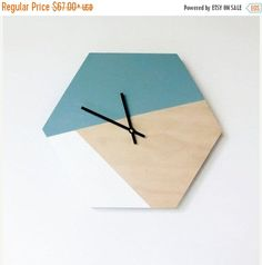 Sale, Wall Clock, Trending Hexagon Decor,  Home Decor, Home and Living, Wall Clock