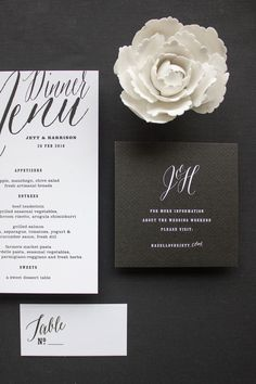 Black and white invitation suite | maemae_collection_jett11