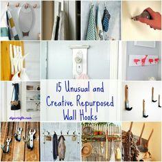 15 Unusual and Creative Repurposed Wall Hooks – DIY & Crafts
