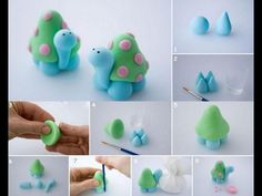 Sculpey clay turtle idea - simple, cute and colorful Polymer Clay Turtle, Polymer Clay Kunst, Sculpey Clay, Polymer Clay Animals, Polymer Clay Projects, Polymer Clay Charms, Polymer Clay Creations, Clay Crafts, Fimo Disney