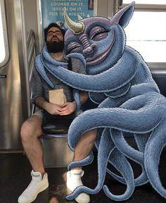 Ben Rubin divertidas ilustraciones de monstruos 2