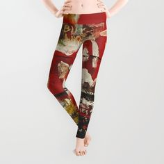 Jean Michel Basquiat inspired leggings, by artist Matt Pecson.