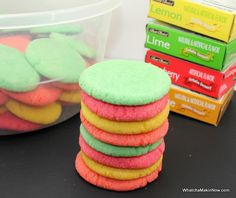 Jell-O Flavored Sugar Cookies - super easy and fun to make!
