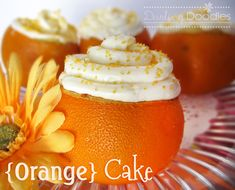 So simple, and cute! Just cut the top off the orange, spoon out all the insides (use to make fresh orange juice afterwards), poor in cake batter, put the lid back on and wrap tightly in tin foil. Follow the cooking instructions on the cake mix box, let cool, and decorate freely!