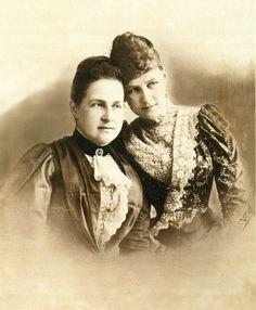 Mother and daughter:Queen Olga Konstantinovna Romanova of Greece,nee Grand Duchess of Russia, and Grand Duchess Alexandra Georgievna of Russia, nee Princess of Greece.A♥W