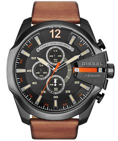 Diesel Mega Chief Chronograph DZ4343 Black/Brown