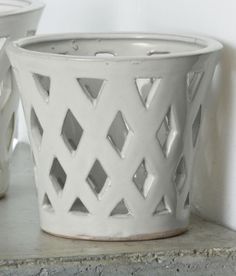 Gwyneth Small Planter Set of 4 in Linen White ** Check this awesome product by going to the link at the image.