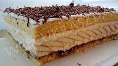 Túrós szelet Cake Cookies, Tiramisu, Cheesecake, Food And Drink, Ethnic Recipes, Mascarpone, Caramel, Cheesecakes, Tiramisu Cake