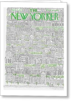 Publication: New YorkerImage Type: CoverDate: April A scene featuring city rooftops and their greenery. April 21, 21st, Greeting Cards, Interiors, Words, News, Decorating, Horse, Home Interiors