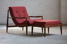 Mint Adrian Pearsall Mid Century Modern Lounge Chair Model 932-C and Ottoman 849-O for Craft Associates (U.S.A. 1960s) by Kinzco, via Flickr… amazing as usual