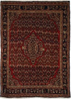 "Bidjar old Terracotta Classic Medallion Carpet CS-M949063162 X 120 Cm. (5'4"" X 4' Ft.) - Carpetsanta"