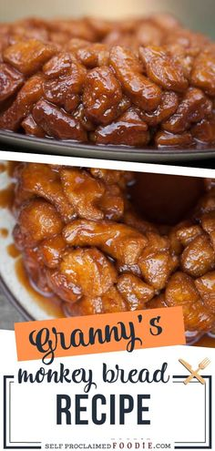 Granny's Monkey Bread is a sweet, gooey, sinful sugar treat that will be loved by young and old. This monkey bread recipe goes with dough or with cans of biscuit dough. Be careful, this homemade overnight Cinnamon Monkey Bread is addictive! Save this breakfast recipe!