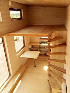 New cabin loft stairs design ideas Tiny House Stairs, Tiny House Loft, Loft Stairs, Tiny House Living, Tiny House Plans, Tiny House Design, Loft Design, Design Design, Mezzanine Loft