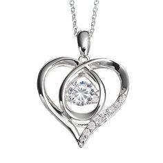 DiamonLuxe 3/4 Carat T.W. Simulated Diamond Sterling Silver Floating Heart Pendant Necklace #LoveKohls